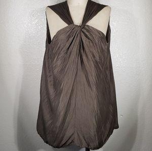 Viviana Uchitel Silk Deep Sleeveless Top XL
